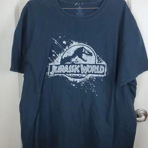 Jurassic world graphic tee size 2XL